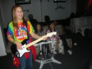 Rockin' out in the Wii Room